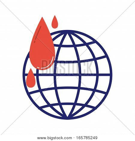 Volunteer icons charity blood donation vector. Humanitarian awareness hand hope aid support and assistance care service human symbols. Trust social rescue helping.