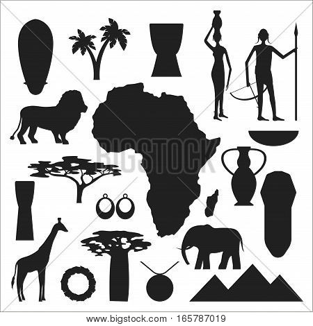 African Symbols Vector Photo Free Trial Bigstock