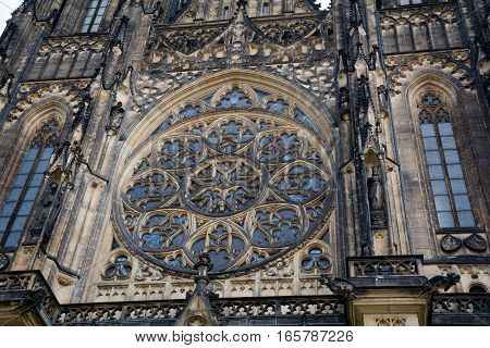 St. Vitus Cathedral In The Castle Of Prague