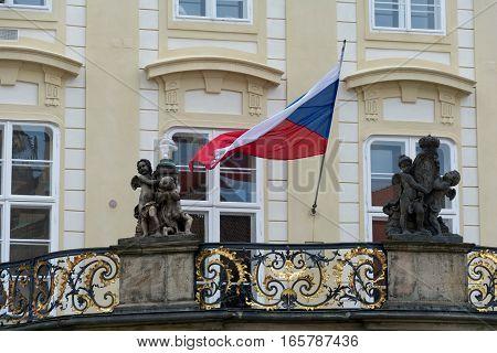 Czech Republic's Flag In Prague