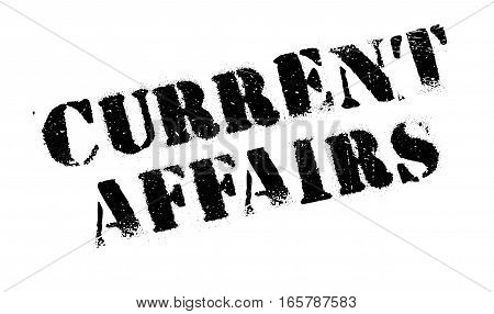 Current Affairs rubber stamp. Grunge design with dust scratches. Effects can be easily removed for a clean, crisp look. Color is easily changed.