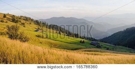 Panorama Of Beautiful Mountains Landscape