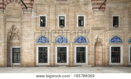 Edirne, Turkey - May 24, 2014: Interior walls of Selimiye Mosque in Edirne