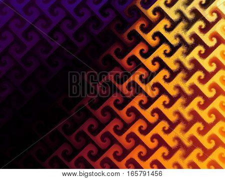 Geometric decorative ornamental pattern. Abstract horizontal background.