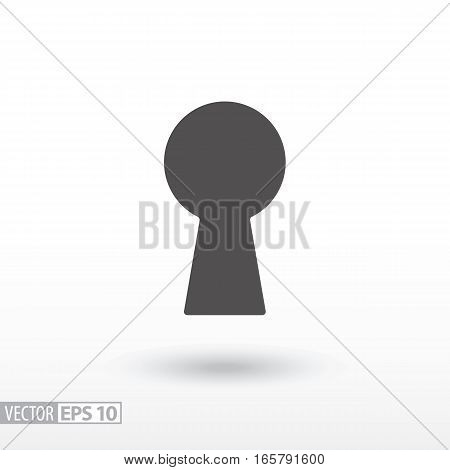 Keyhole flat icon. Sign Keyhole. Vector logo for web design, mobile and infographics. Vector illustration eps10. Isolated on white background.