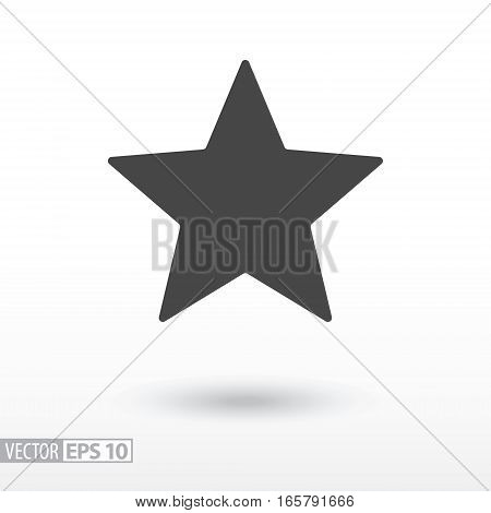 Star flat Icon. Sign Star. Vector logo for web design, mobile and infographics. Vector illustration eps10. Isolated on white background.
