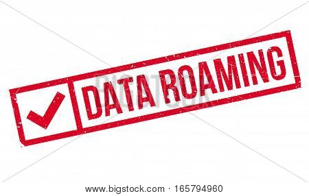 Data Roaming rubber stamp. Grunge design with dust scratches. Effects can be easily removed for a clean, crisp look. Color is easily changed.