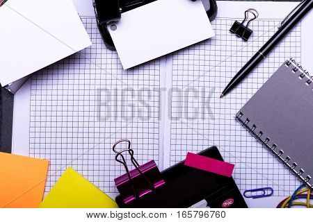 Stationery: Clips, Pen, Folder, Blanks, Rubber, Hole Puncher, Calculator, Stickers