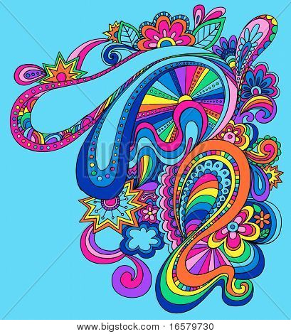 Psychedelic Abstract Groovy Vector Illustration