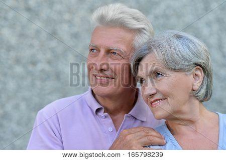 Portrait of a mature couple, close up
