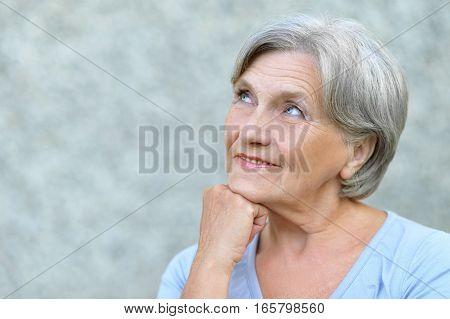 Portrait of a mature woman, close up