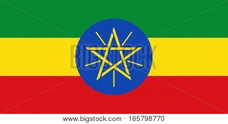 Colored Flag Of Ethiopia