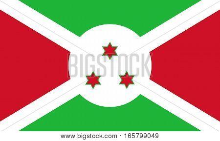 Colored Flag Of Burundi