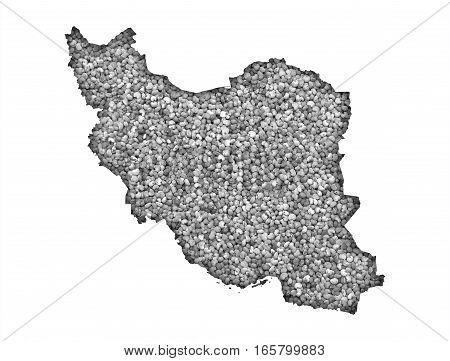 Map Of Iran On Poppy Seeds