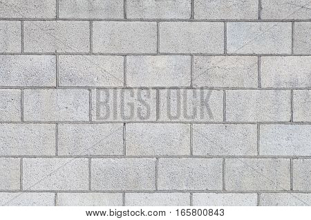 Concrete block wall background and texture