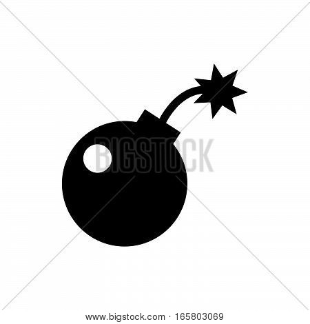 bomb icon illustration isolated vector sign symbol