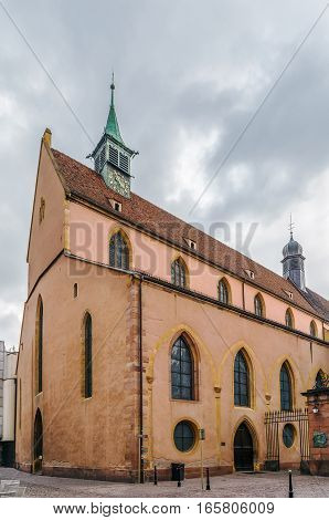 Church of St. Matthew (former church of the Franciscans then Protestant church Saint Matthew) Colmar Alsace France