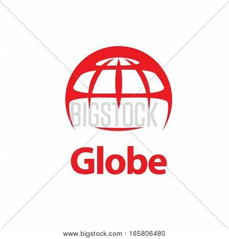 pattern design abstract logo Globe. Vector illustration