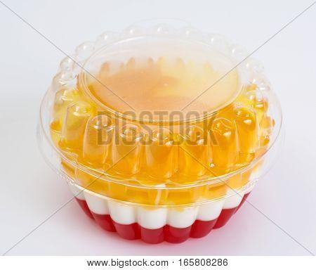 Multi-color jelly in plastic molds. Studio Photo