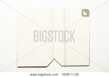 Note Book On White Background Isolated