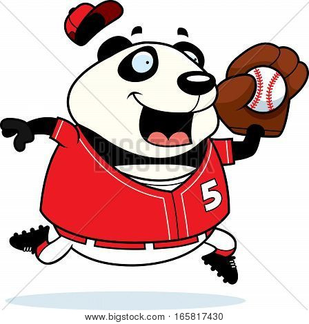 Cartoon Panda Baseball