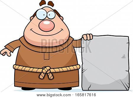 Cartoon Monk Tablet