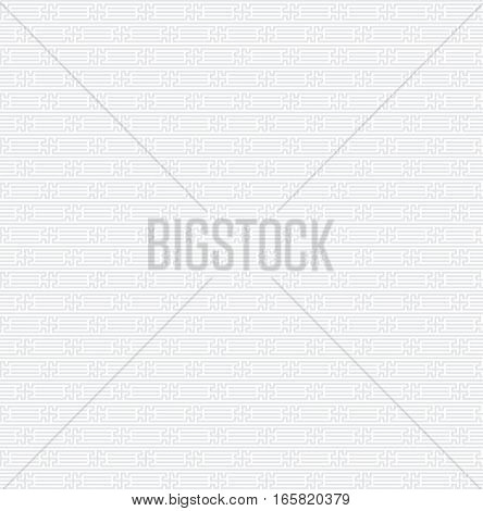 Seamless geometric light gray pattern. Swatch is included in vector file. Transparent background.