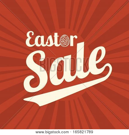 easter sale type font for business on speed line background