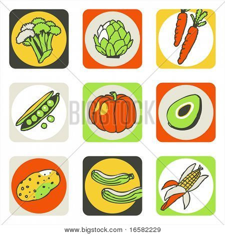 Vegetables icons 2