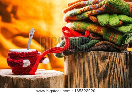 471882 Knitwear And Coffee Cup