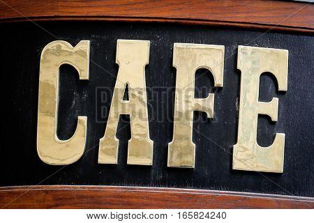 Old Cafe Sign