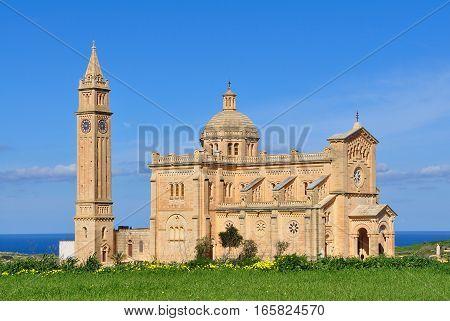 famous Ta Pinu basilica,island Gozo near Malta