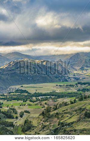 Andean Rural Scene Quilotoa, Ecuador