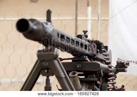 German manual machine gun MG-42 of times of World War II