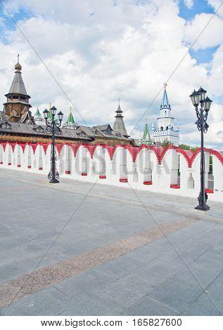 Street Lamps On The Stone Bridge