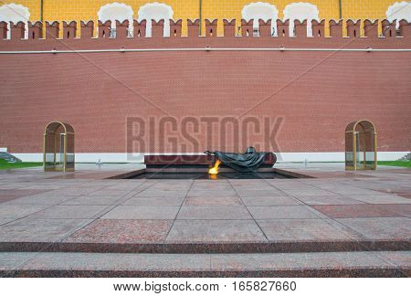 Eternal Flame At Kremlin Wall