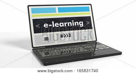 3D Rendering E-learning On A Laptop's Screen