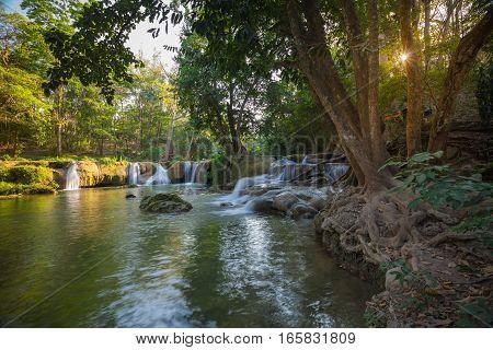 Chet Sao Noi Waterfall Muak Lek Thailand