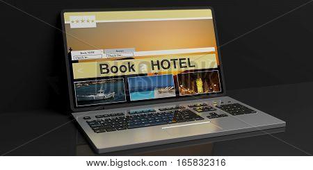 3D Rendering Hotel Online Reservation