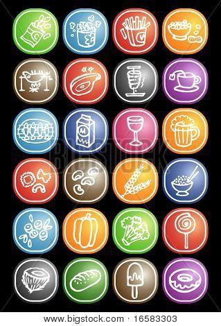 Food icons 3 - illustrations - icons set -