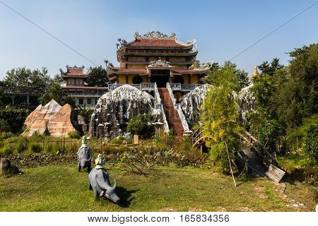 the birthplace of Buddha Vietnamese temple Lumbini Nepal