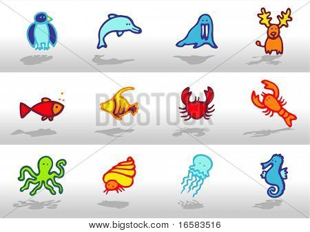 Animals icons 4 - illustrations - icons set -