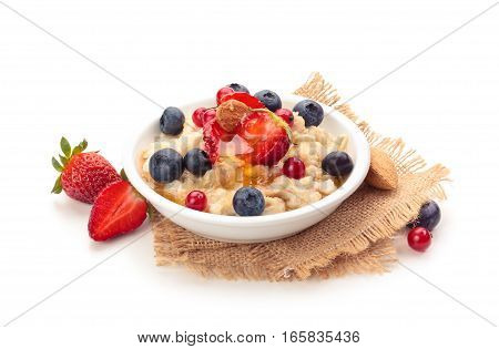 Oatmeal And Fresh Fruits.