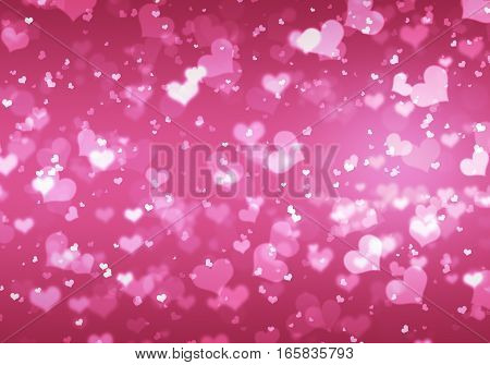 Gentle Elegant Background With The Image Of Glitter Hearts