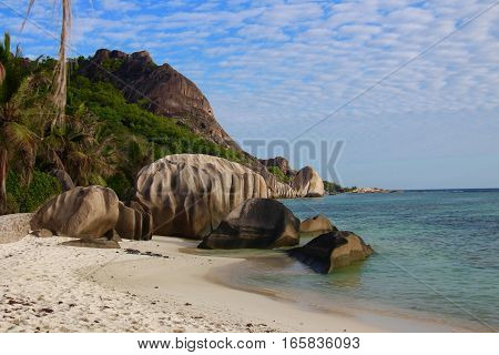 Granitic rocks in Anse Source D'Argent, La Digue, Seychelles