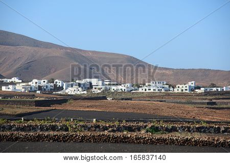 A typical village on the Canary island of Lanzarote