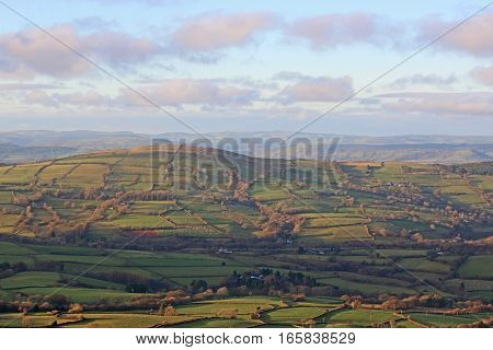 Hills of the Black Mountains in Wales