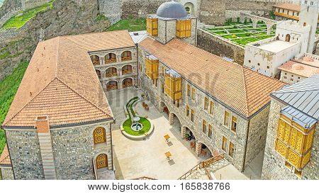 The Stone Buildings Of Rabati Castle