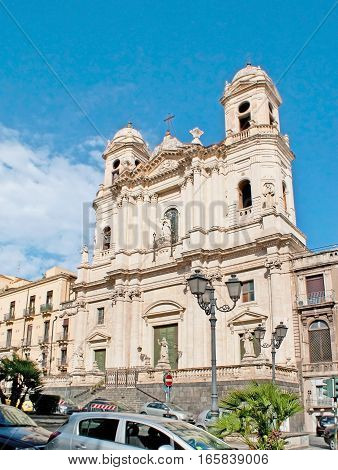 The Saint Francis Of Assisi Church In Catania