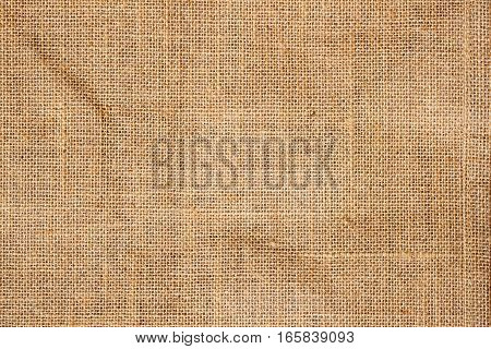 Closeup of brown Natural sackcloth or canvas fabric texture for background